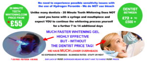 Whhiter smile with 20 Minute Teeth Whitening